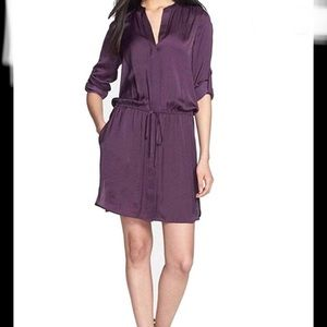"Vince ""Popover Belted Tunic Dress"""